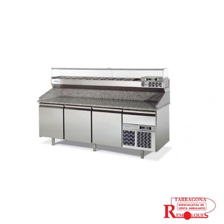 bajo mostrador de pizza food truck remolques tarragona