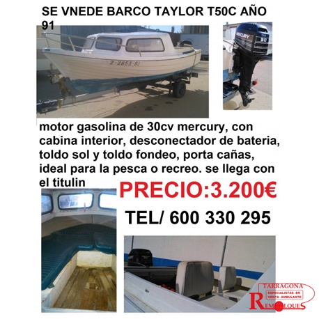 barca-taylor-t50c remolques tarragona